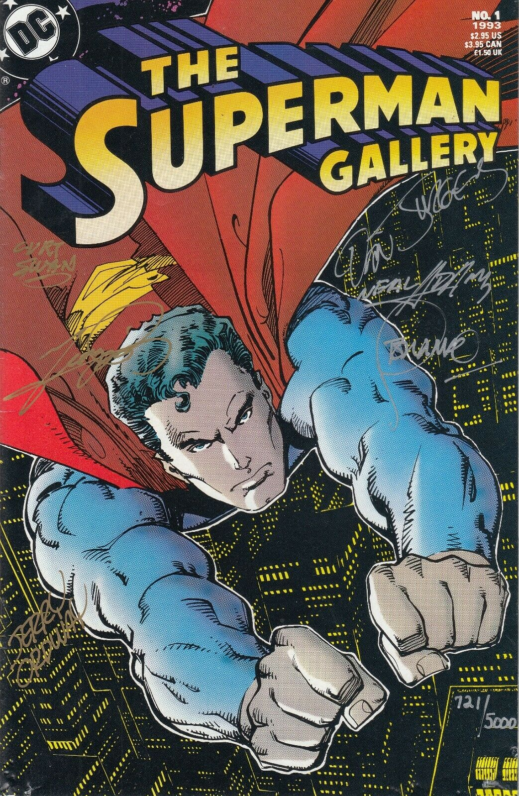 DC Comics Superman Gallery, Signed by Curt Swan, George Perez, Neal Adams, more