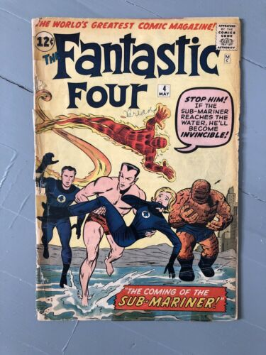 Fantastic Four 4 1st Silver Age Sub-mariner Raw 1.5-2.0 Range