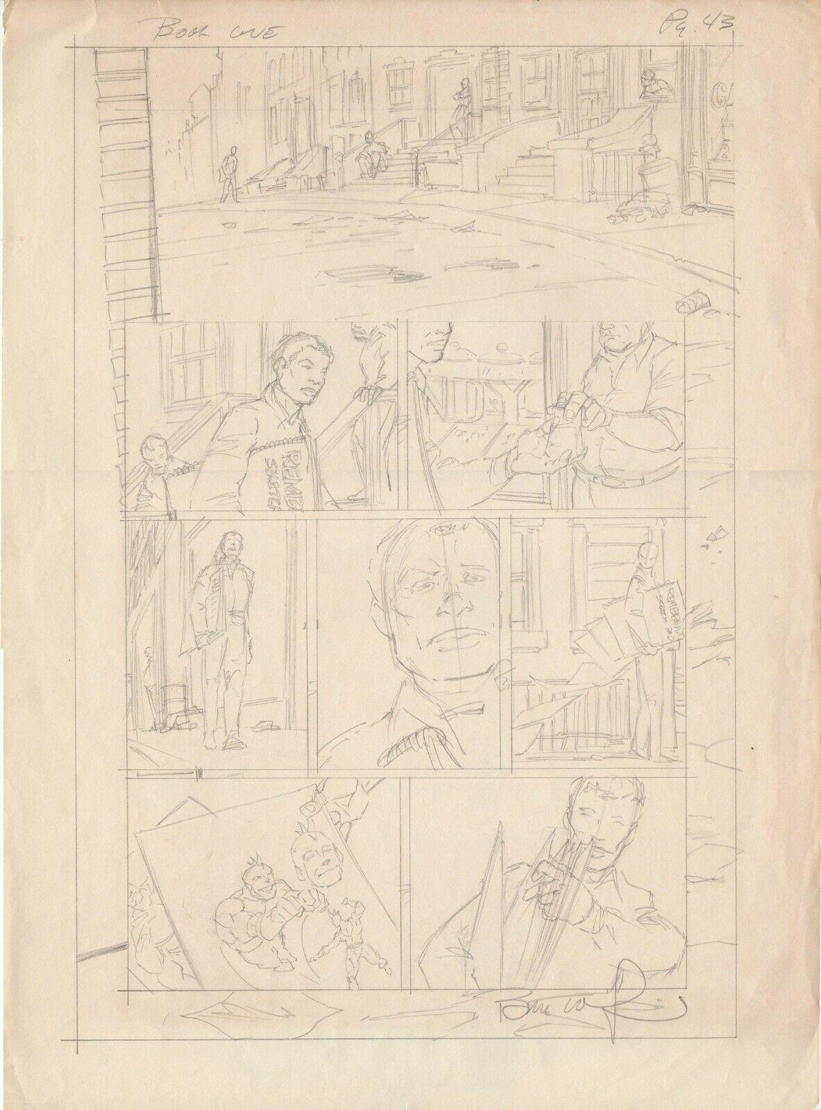 Berni Wrightson original pencil layout BATMAN The Cult. rare