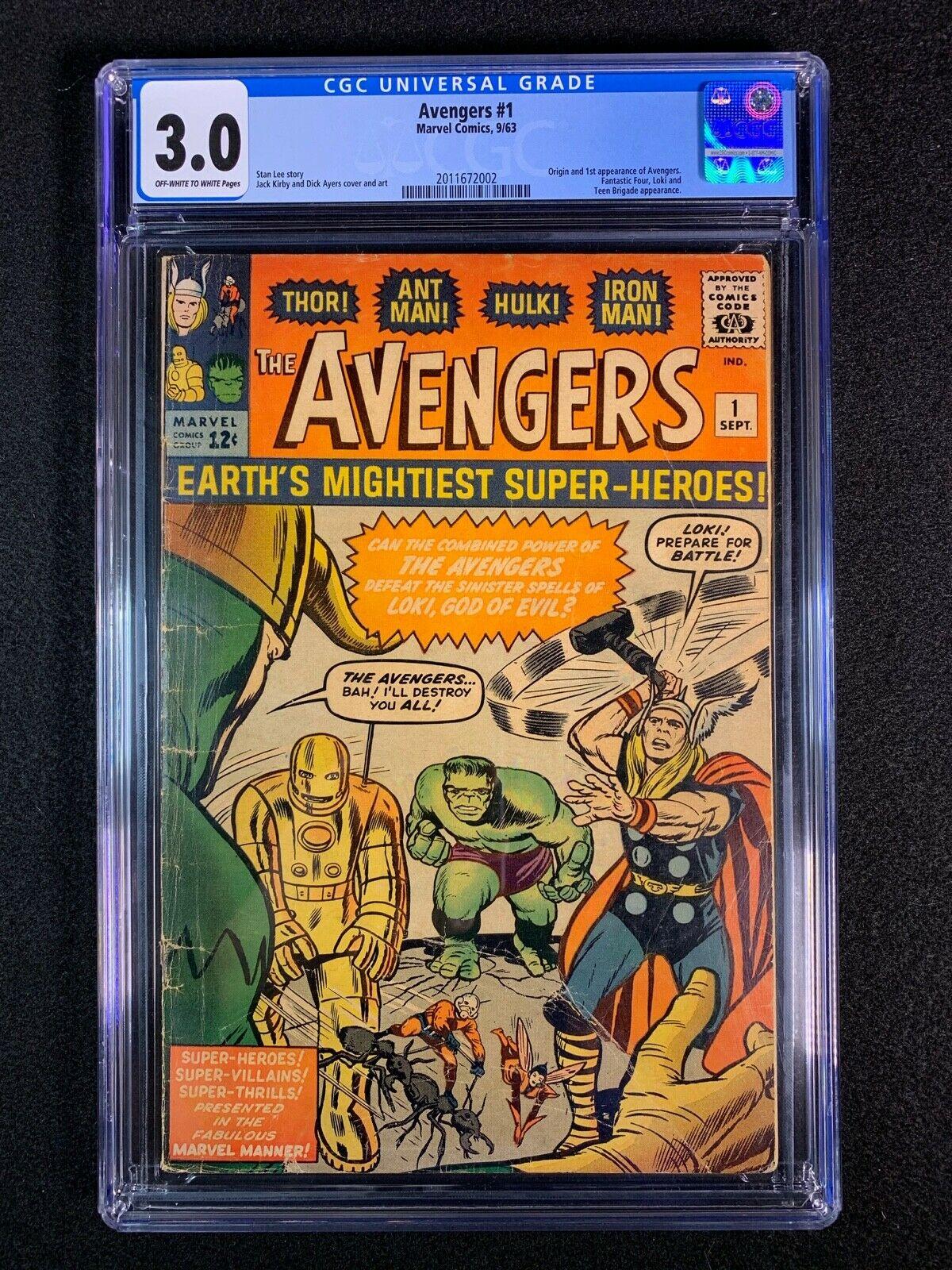Avengers #1 CGC 3.0 (1963) - Origin & 1st app of the Avengers