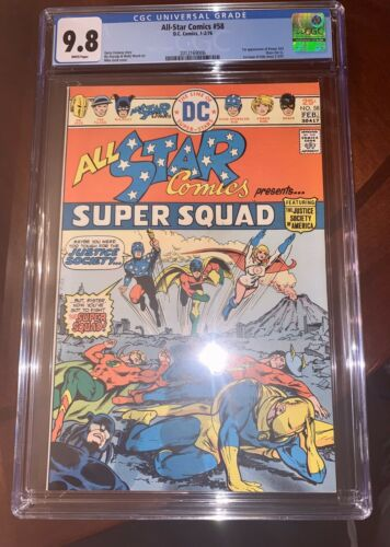 All Star Comics #58 CGC 9.8 White Pages 1st App Of Power Girl
