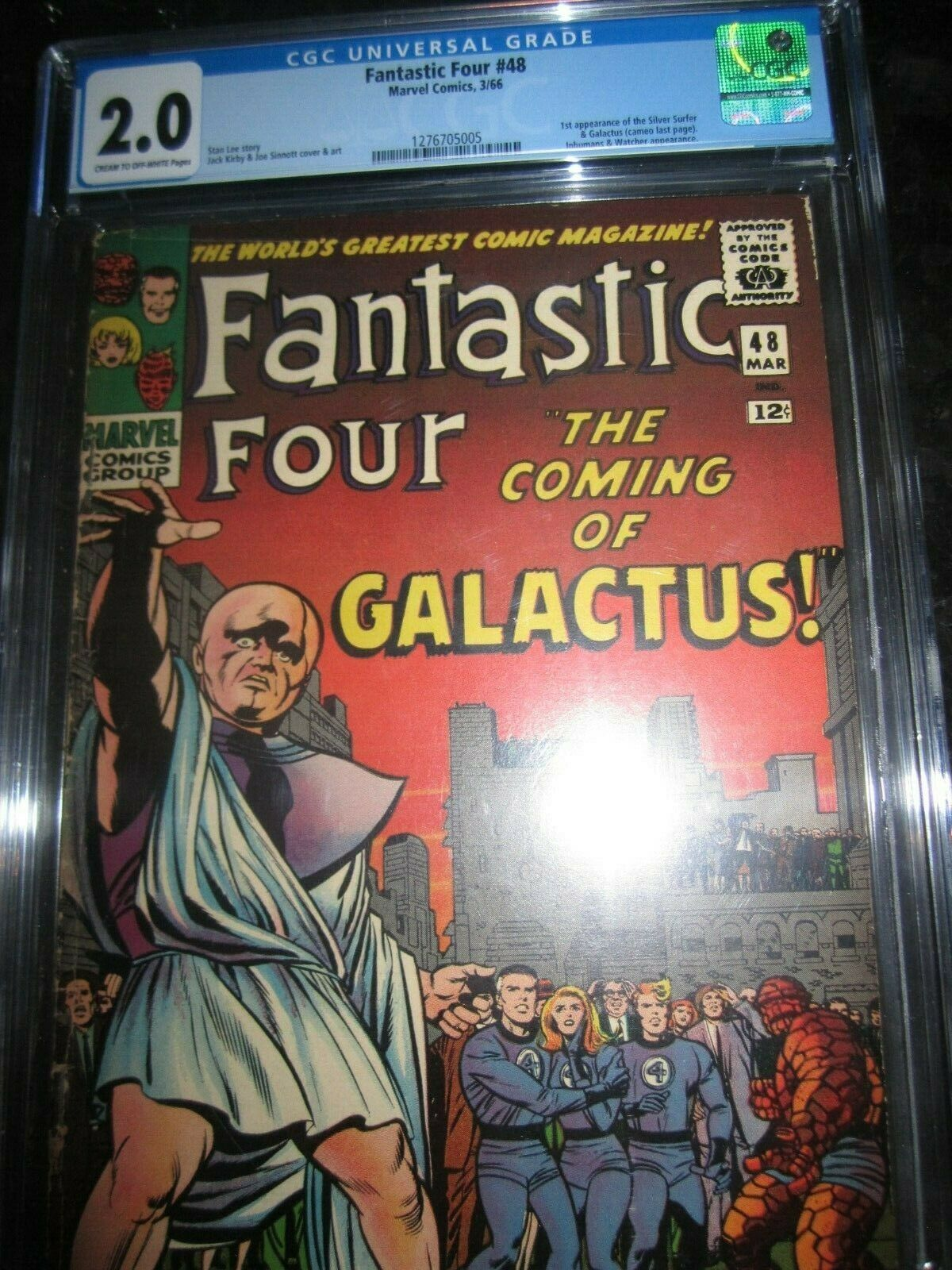 Fantastic Four #48 CGC 2.0 First appearance of Silver Surfer Galactus 1 2 3 4