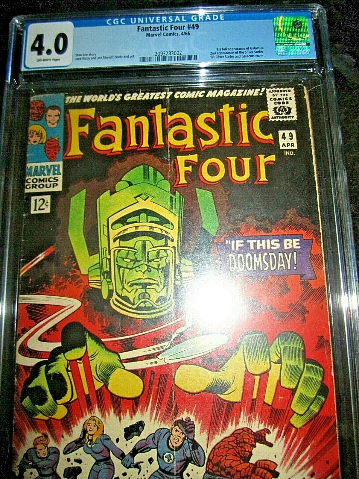 Fantastic Four #49 CGC 4.0 First cover appearance of Silver Surfer 1 2 3 4