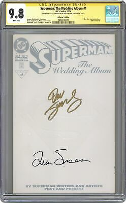 Superman The Wedding Album 1D White Variant CGC 9.8 SS 1996 1406038028