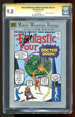 Marvel Milestone Edition Fantastic Four #5 CGC 9.8 SS Stan Lee 1176981010