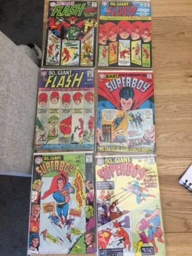 80pg Giant The Flash / superboy Silver Age,f-4/169/178 S- 138/147/156