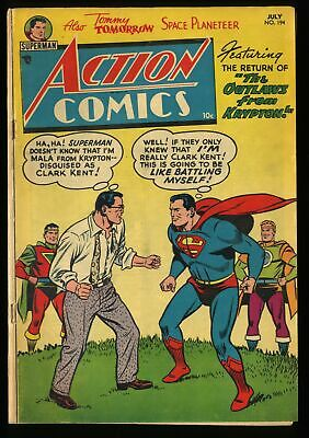 Action Comics #194 VG 4.0 Return of the Outlaws DC Superman