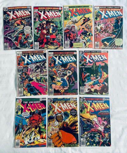 UNCANNY X-MEN #99, 102, 104, 106, 110, 112, 115, 116, 117, 118 (x10 Lot) KEY