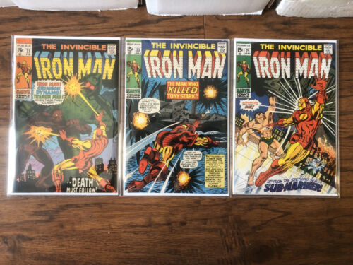The Invincible Iron Man #22,23, and 25 (Off White/White Pages)