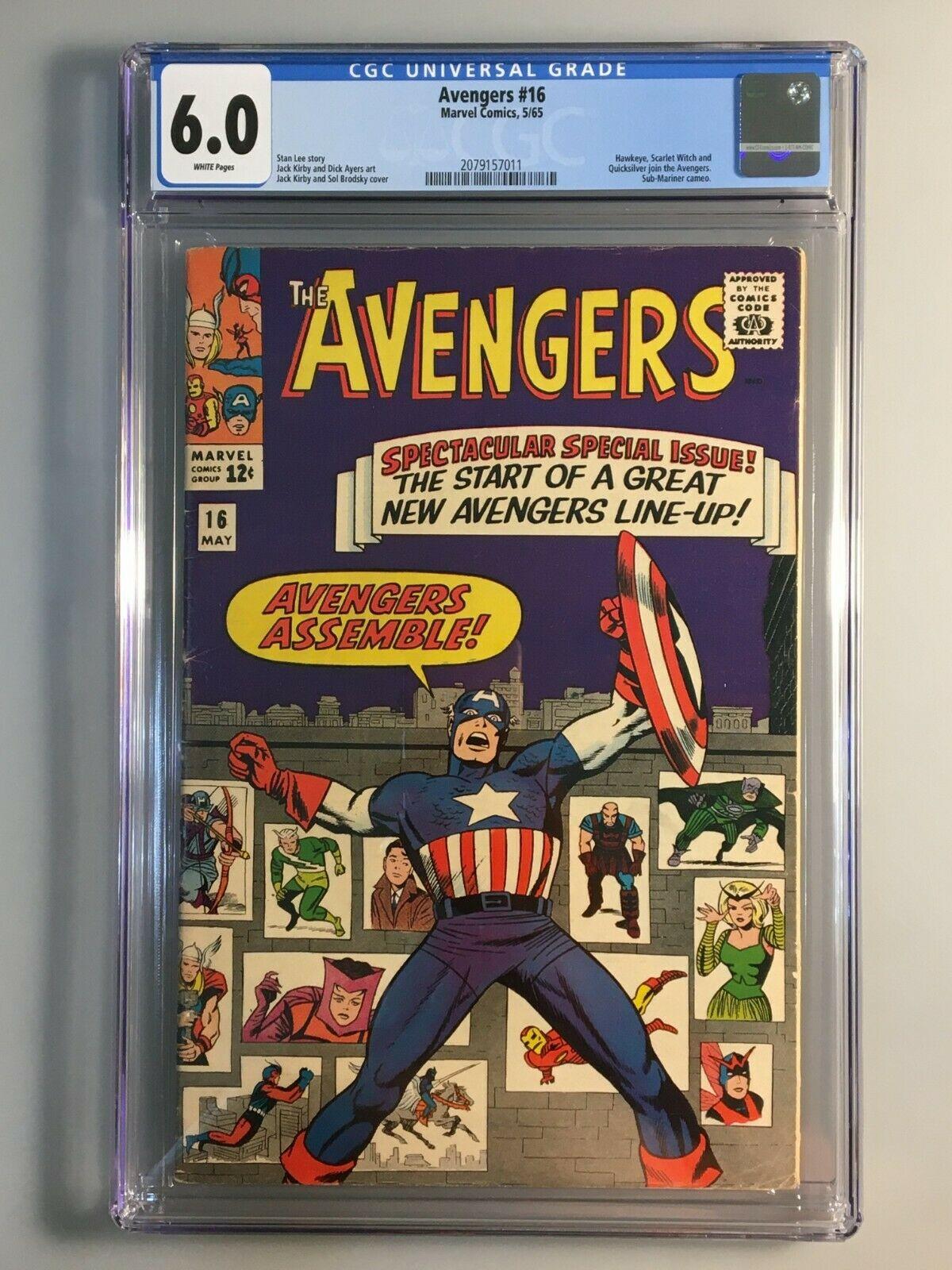 Avengers 16 - CGC 6.0 - New Avengers team, AVENGERS ASSEMBLE, Key?  Issue