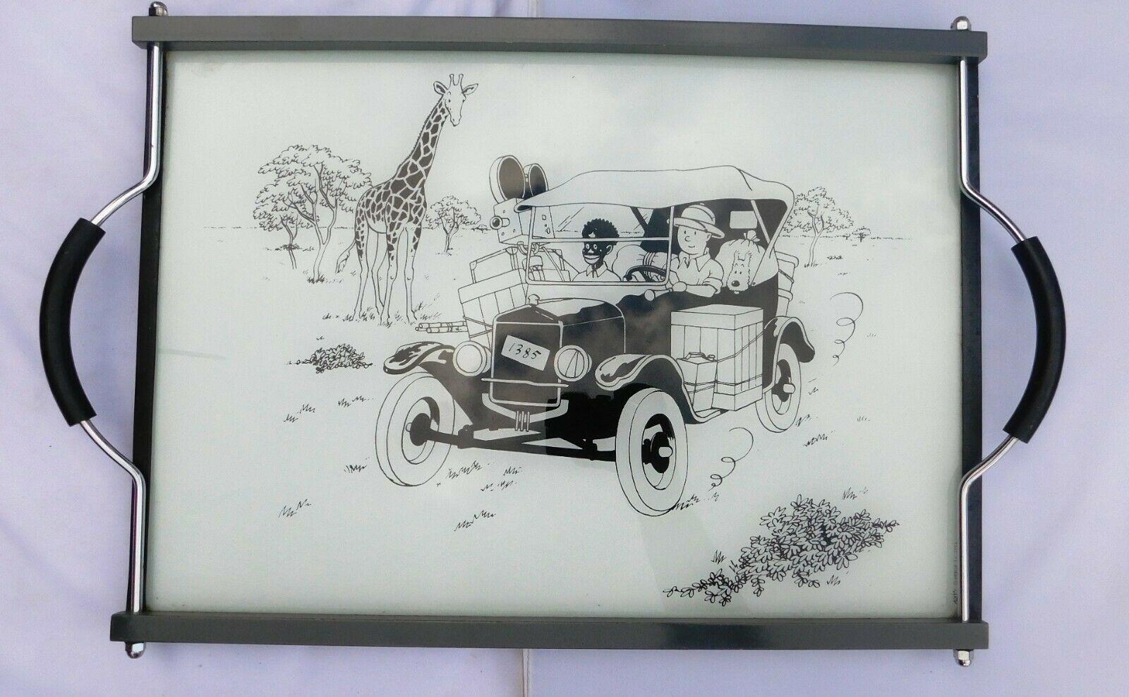 Plateau en verre Tintin. au Congo. AXIS