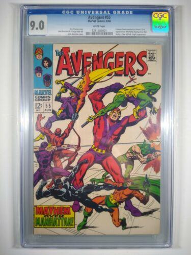 Avengers #55 CGC 9.0 1968 1st full 1 Ultron Captain America Hulk Iron Man Xmen