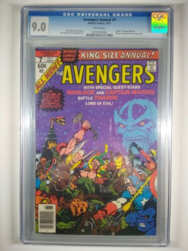 1977 Avengers Annual #7 CGC 9.0 Jim Starlin  Death of Thanos Captain Marvel 1 55