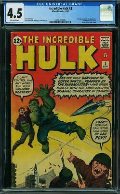 Hulk #3 CGC 4.5 Marvel 1962 1st Ringmaster Key Silver Age Avengers L5 206 cm