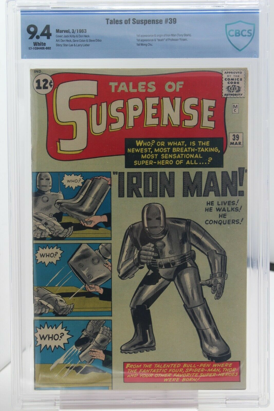 TALES OF SUSPENSE # 39 CBCS 9.4 - Marvel - 1st App & Origin of IRON MAN - KEY