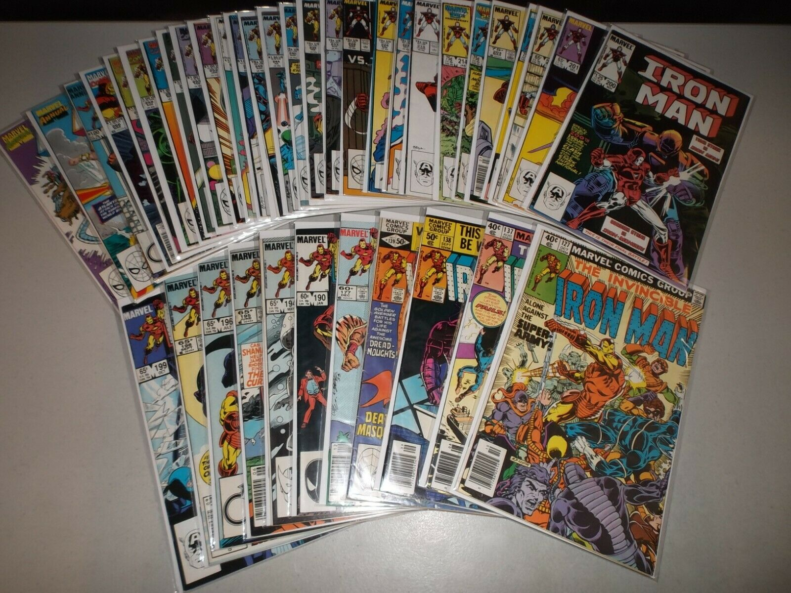 Iron Man #127-266 (Random Lot of 39) 127 137 138 139 177 190 194 195 196 200 219