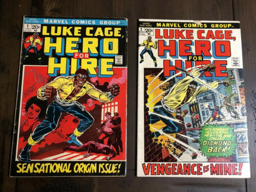 Luke Cage Hero for Hire #1 #2 - 1st/2nd Issue Power Man Marvel Comics June 1972