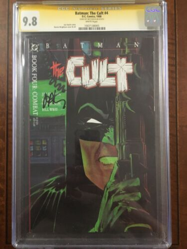 Batman The Cult 4 CGC 9.8 SS Signed By Jim Starlin Art By Bernie Wrightson 1988