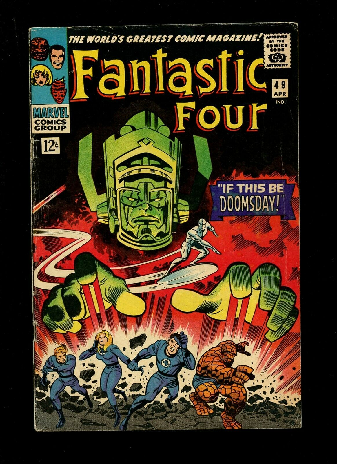 Fantastic Four 49 VG 4.0 *1 Book Lot* Marvel 1966 1st Punisher Robot Galactus