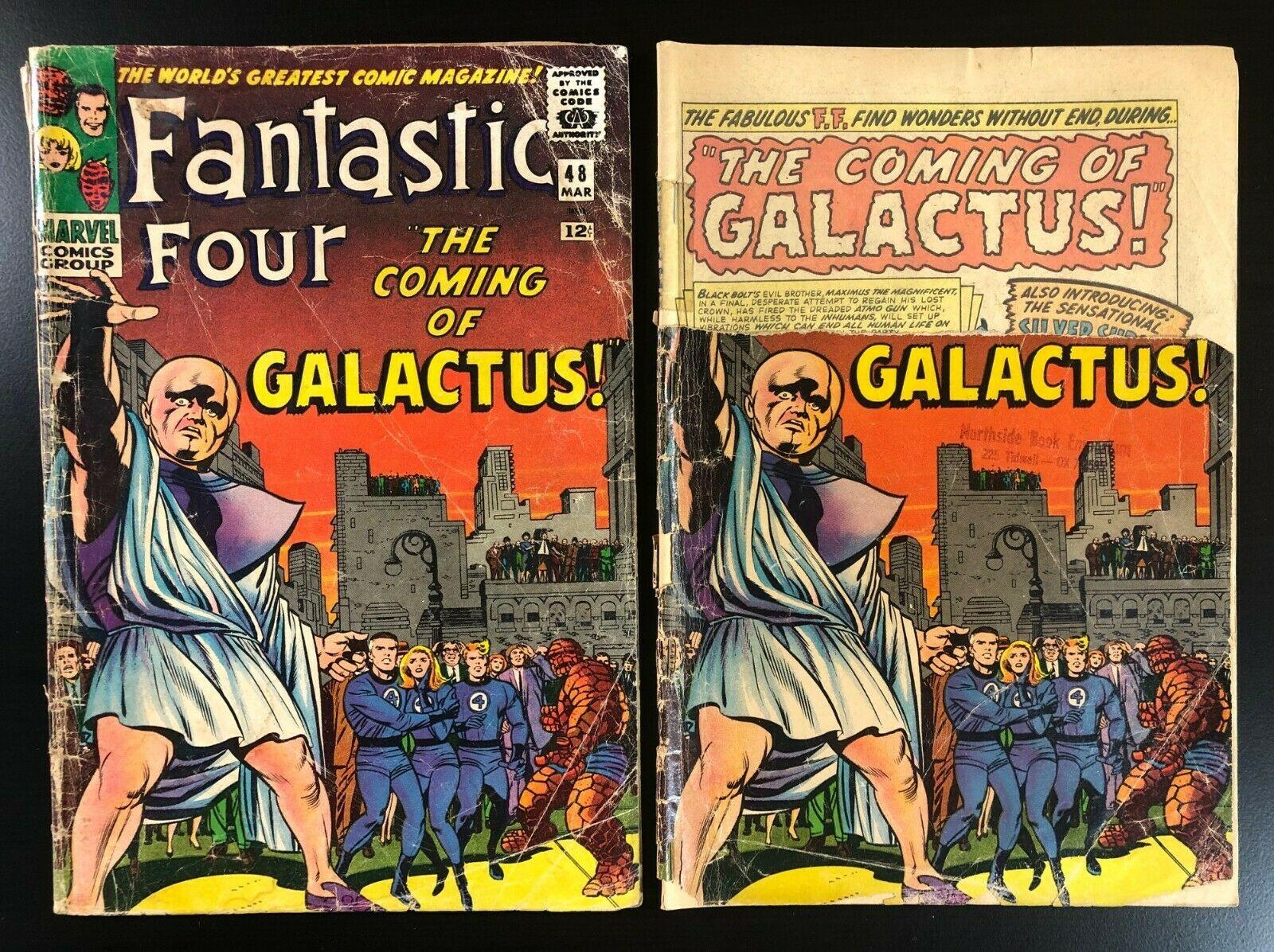 Fantastic Four 48  4?? *2 COPIES* 0.5 & 1.0 1st Galactus & Silver Surfer 1966