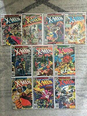 Uncanny X-Men #110 111 112 113 114 115 116 117 118 119 FN-VF/NM 1978 LOT SET RUN