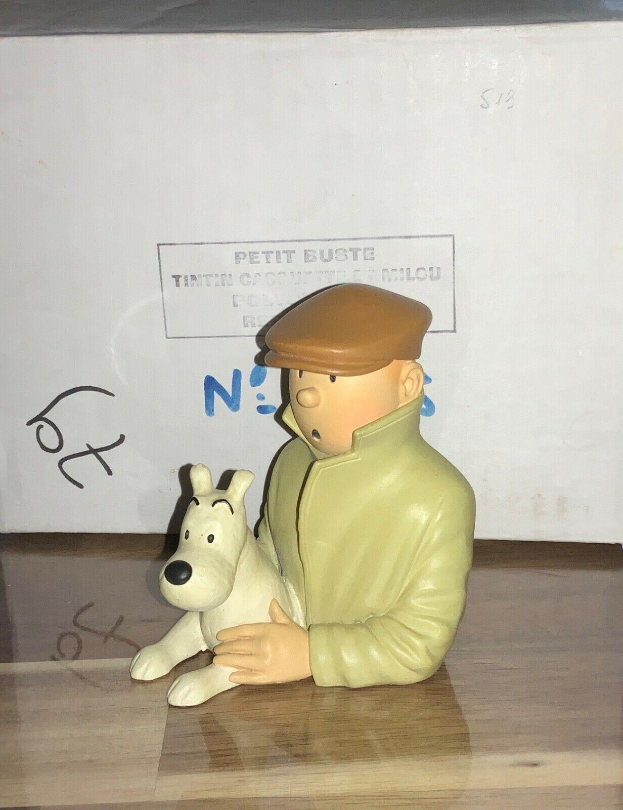 Pixi Petit buste Tintin casquette et Milou. Polychrome 1993. Réf 30009. HERGÉ