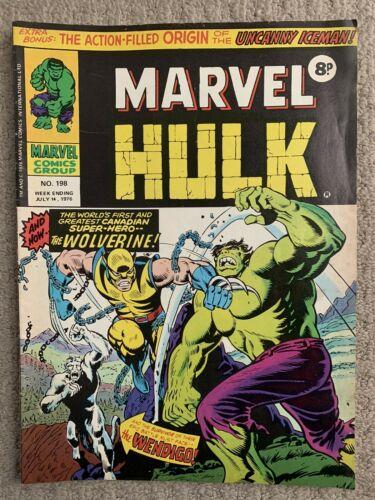 MIGHTY WORLD OF MARVEL Comic # 198 1976 British 1st App Wolverine UK