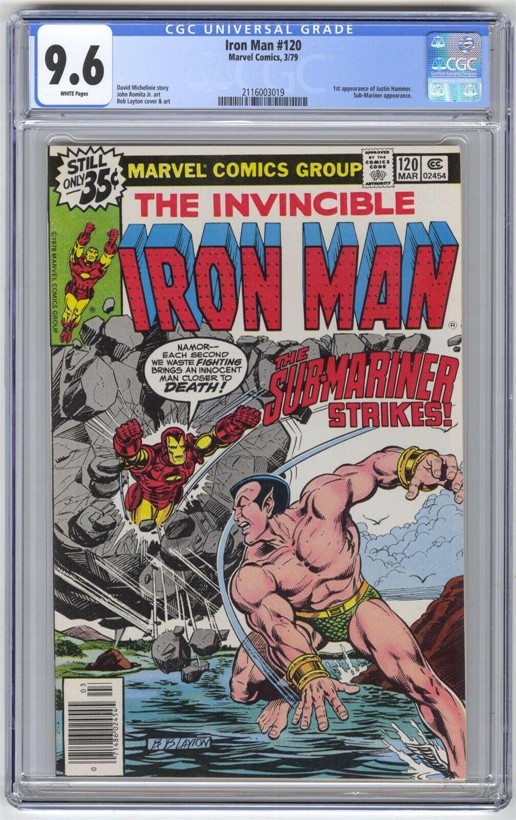 Iron Man #120 CGC 9.6 HIGH GRADE Marvel Comic KEY 1st Justin Hammer Bronze 35c