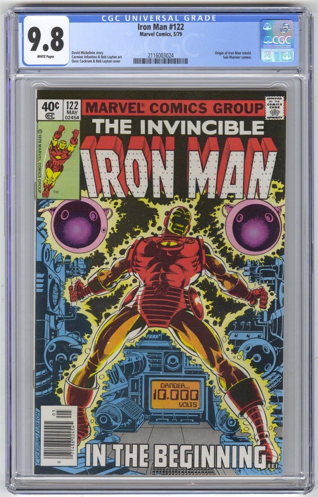 Iron Man #122 CGC 9.8 HIGH GRADE Marvel Comic Origin Retold Sub-Mariner App