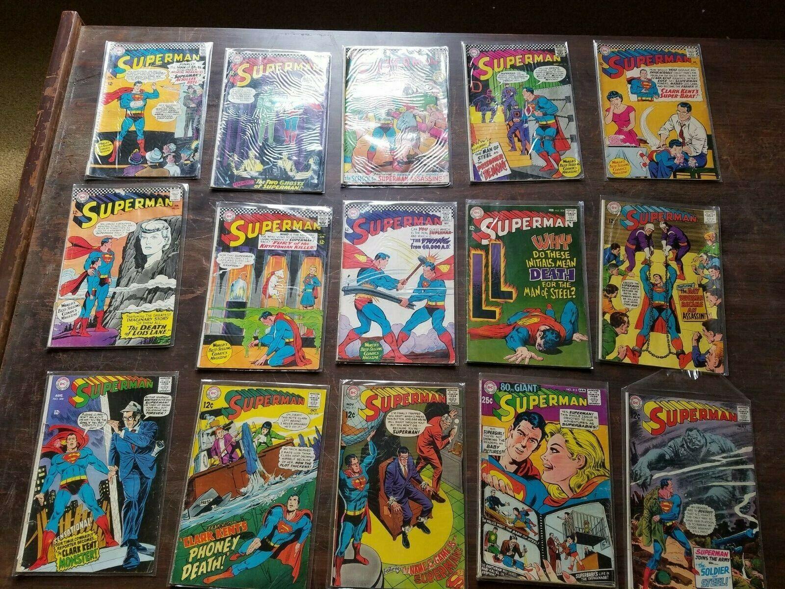 15 Lot Superman DC Comics 216 212 211 210 209 206 204 195 194 192 191188 186 185