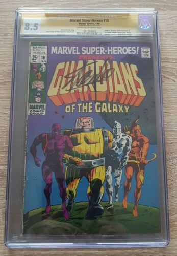 Marvel Super Heroes#18 CGC 8.5 Certified &Signed By Stan Lee