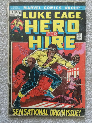 LUKE CAGE HERO FOR HIRE, #1, SENSATIONAL ORIGIN ISSUE, MARVEL, GD GRADE