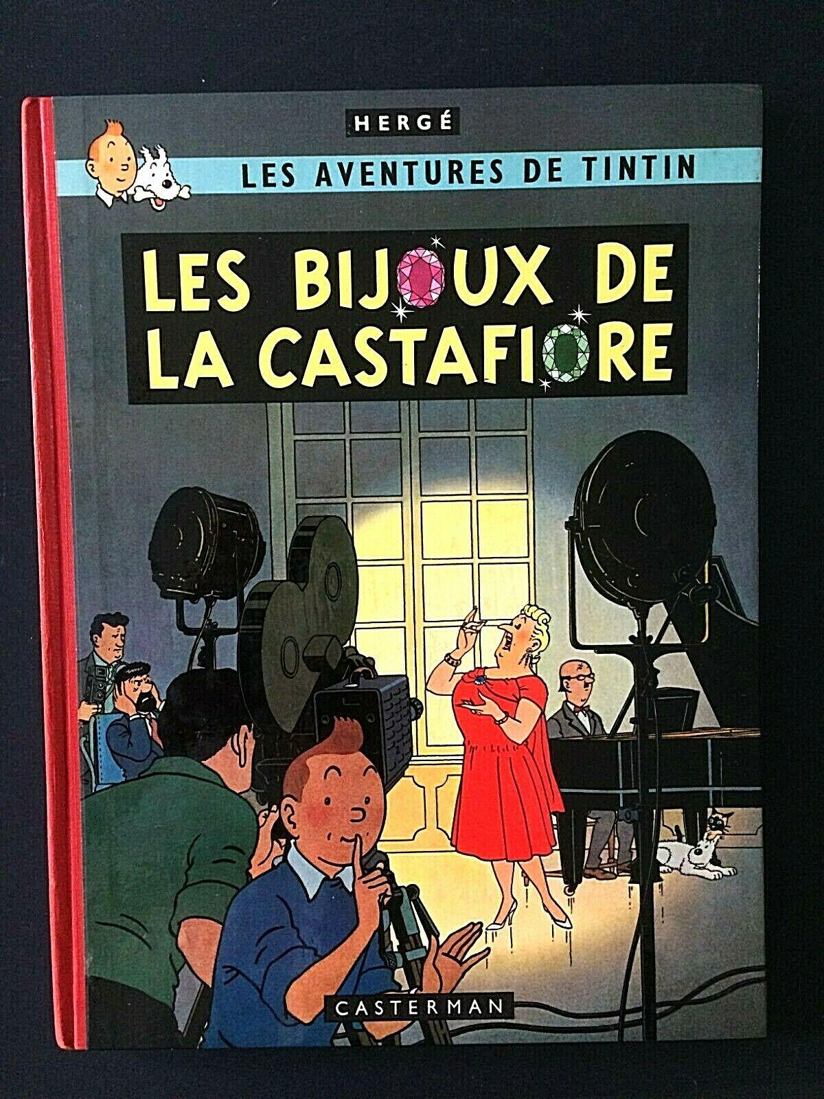 TINTIN - LES BIJOUX DE LA CASTAFIORE -1963- B34 - TIRAGE DE TETE +DEDICACE- TTBE