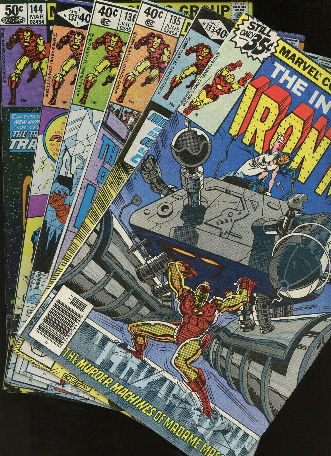 Iron Man 116,133,135,136,137,144 * 6 Book Lot * Marvel Tony Stark Super-Hero