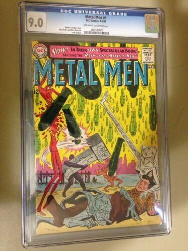 Metal Men #1 (Apr-May 1963, DC) 9.0 CGC Off-White to White Pages