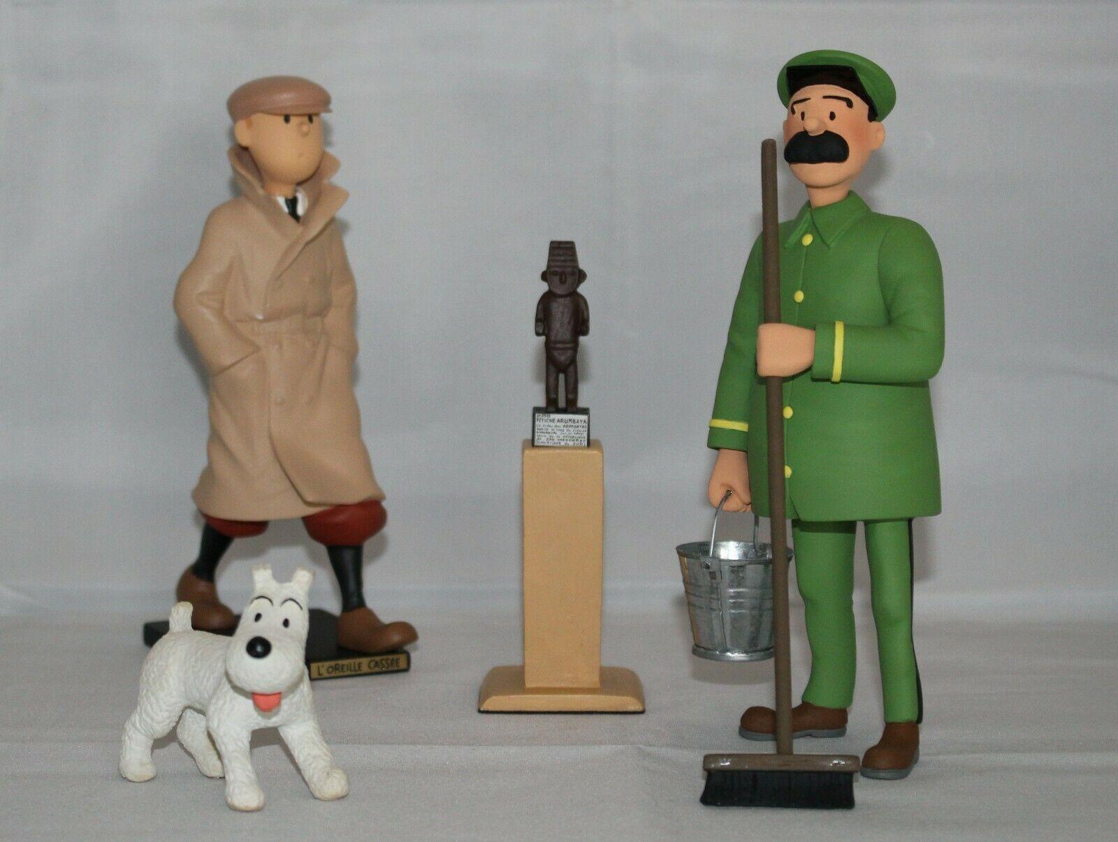 Tintin & Milou statuettes de Jules et le Fétiche non Leblon Fariboles St Emett