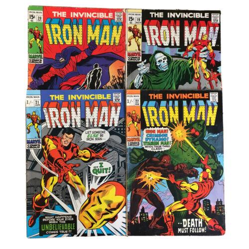 4x The Invincible IRON MAN Vol. 1 No. #19 #20 #21 #22 1969 1970 - MARVEL COMICS