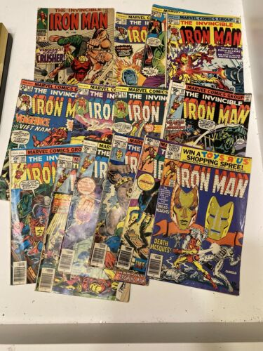 Invincible Iron Man 60s 70s Lot  6 70 76 77 78 80 82 97 105 101 108 114 137 139