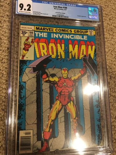 Iron Man 100 35 Cent Variant CGC Graded 9.2 2nd Highest Grade
