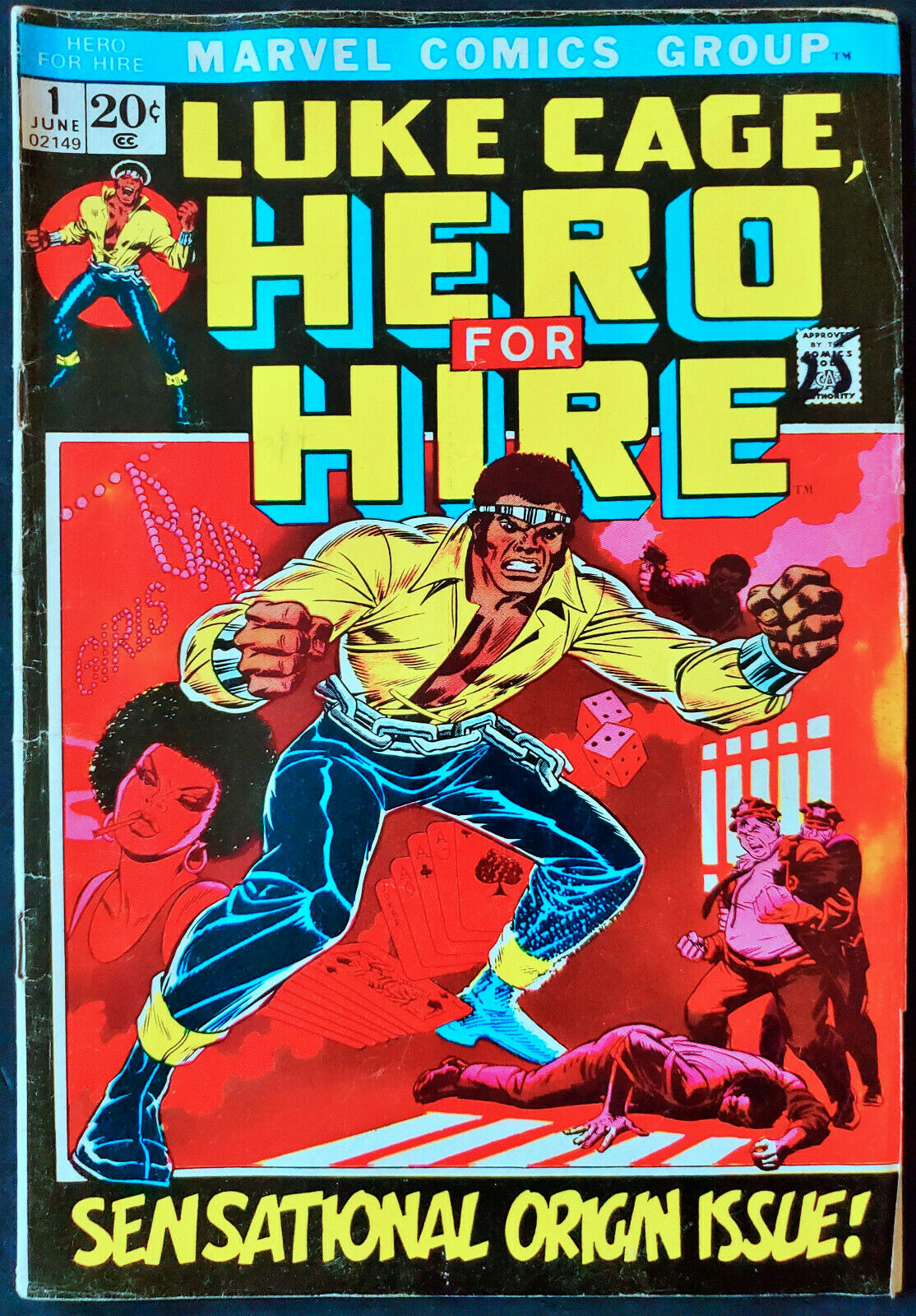 Luke Cage Hero For Hire #1 VG/FN 5.0 1st App and Origin 1972 Marvel Key Issue