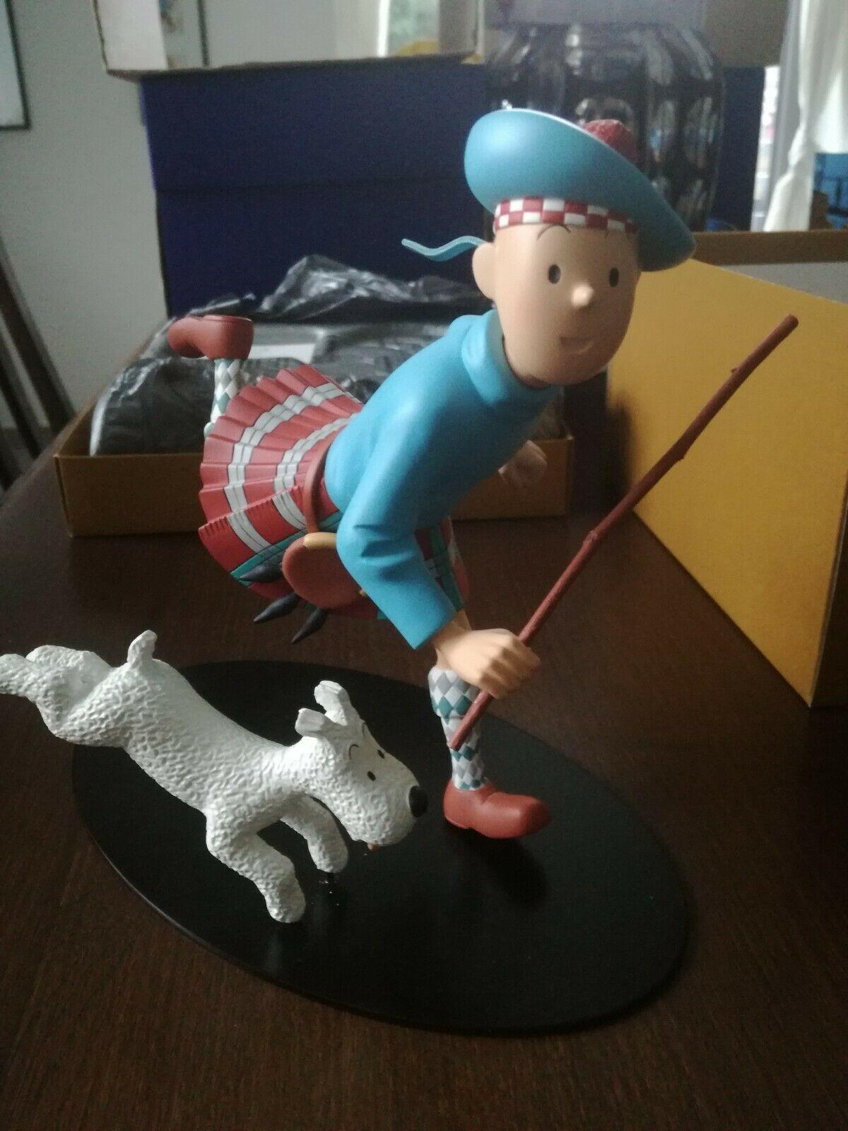 Tintin Ecossais et Milou figurine Leblon Aroutcheff. No Pixi . Etat neuf