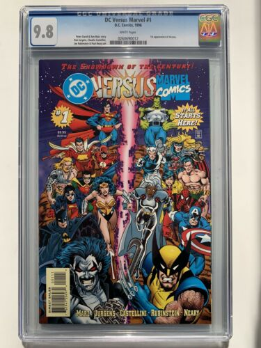 DC Versus Marvel #1 CGC 9.8 and Marvel Versus DC #2 CGC 9.8 (1st App. of Access)