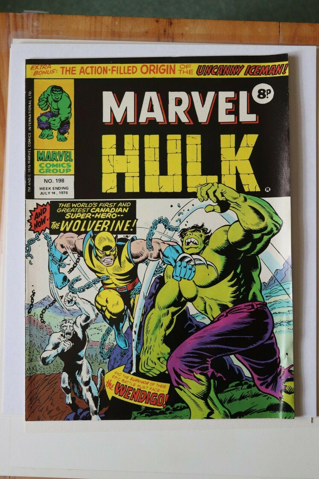 Marvel Mighty World of Marvel #198 UK Hulk #181 1st App of Wolverine