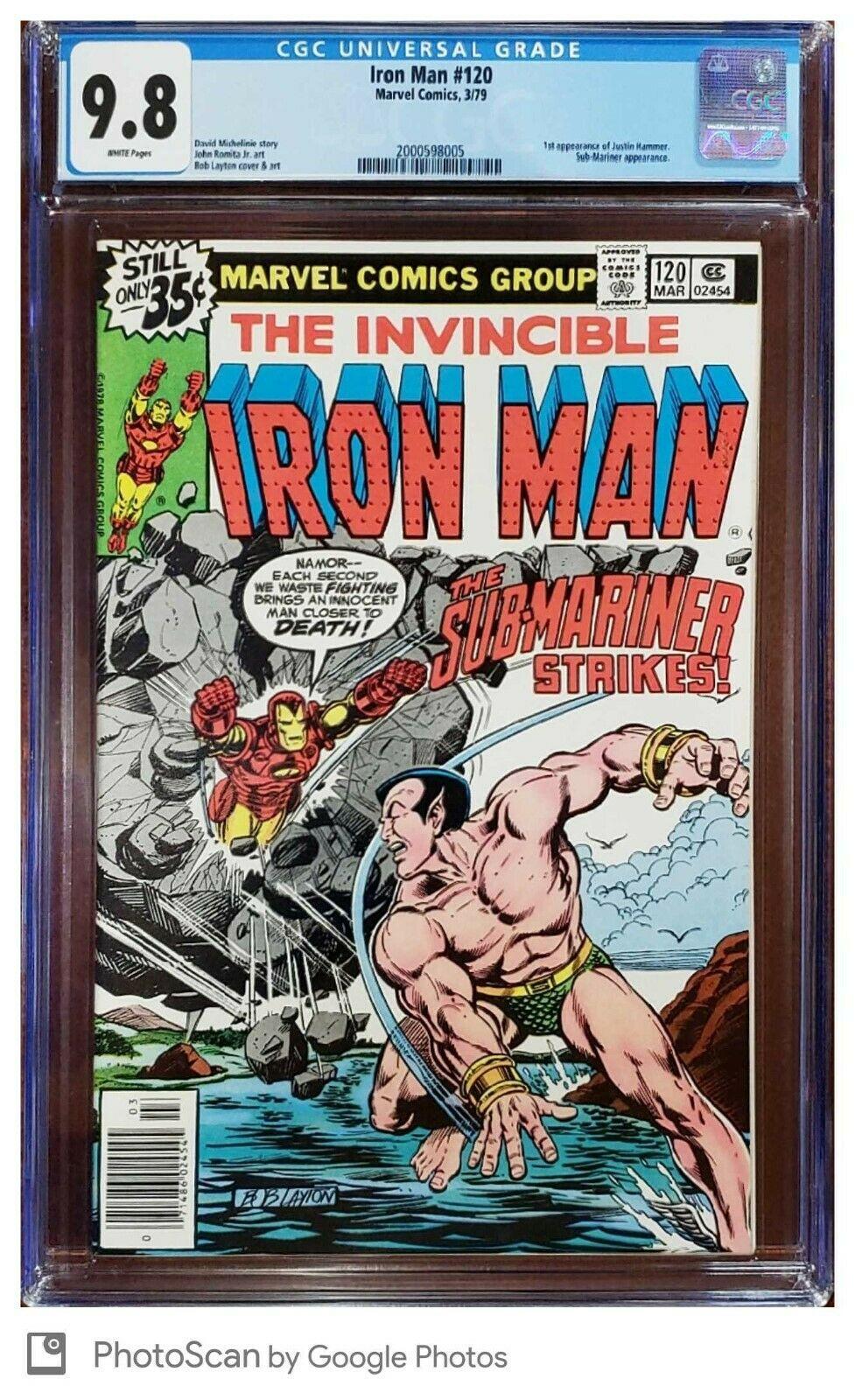 Iron Man 120 CGC 9.8 Sub-Mariner Marvel 1979