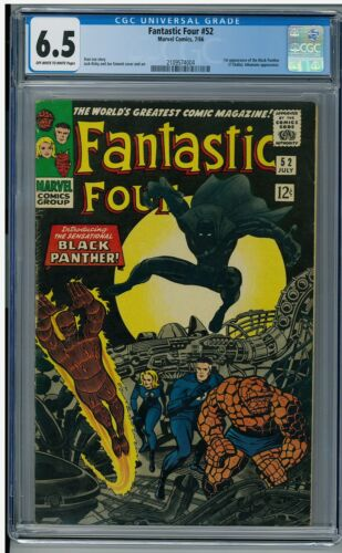 Fantastic Four 52 CGC 6.5 1st Appearance of The Black Panther BRAND NEW CASE