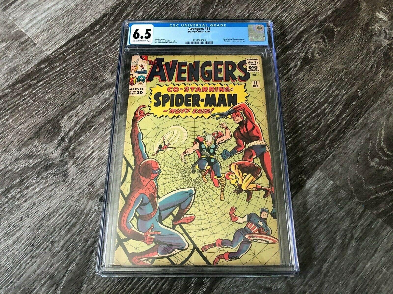 AVENGERS 11 CGC 6.5 Fine +  Co-Starring Spider-Man & Kang