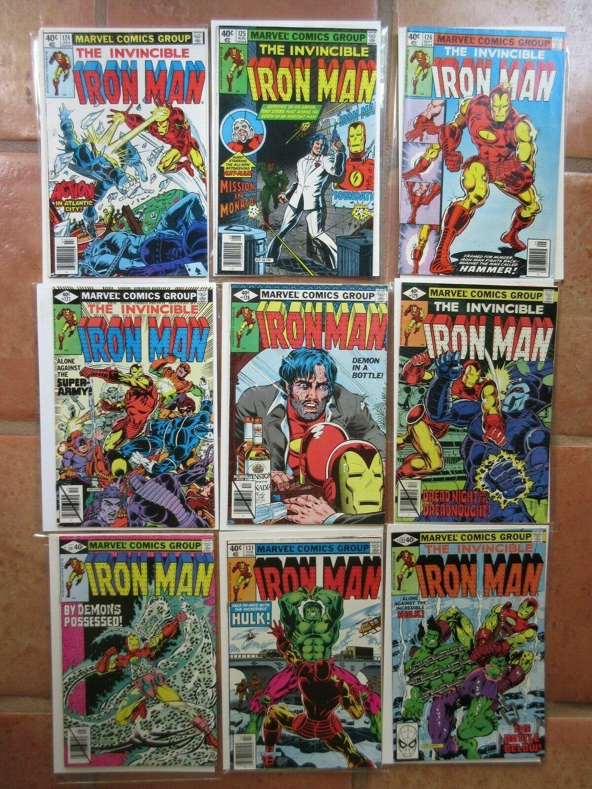 Iron Man comic book 1979 lot set 124 125 126 127 128 129 130 131 132  comicbook