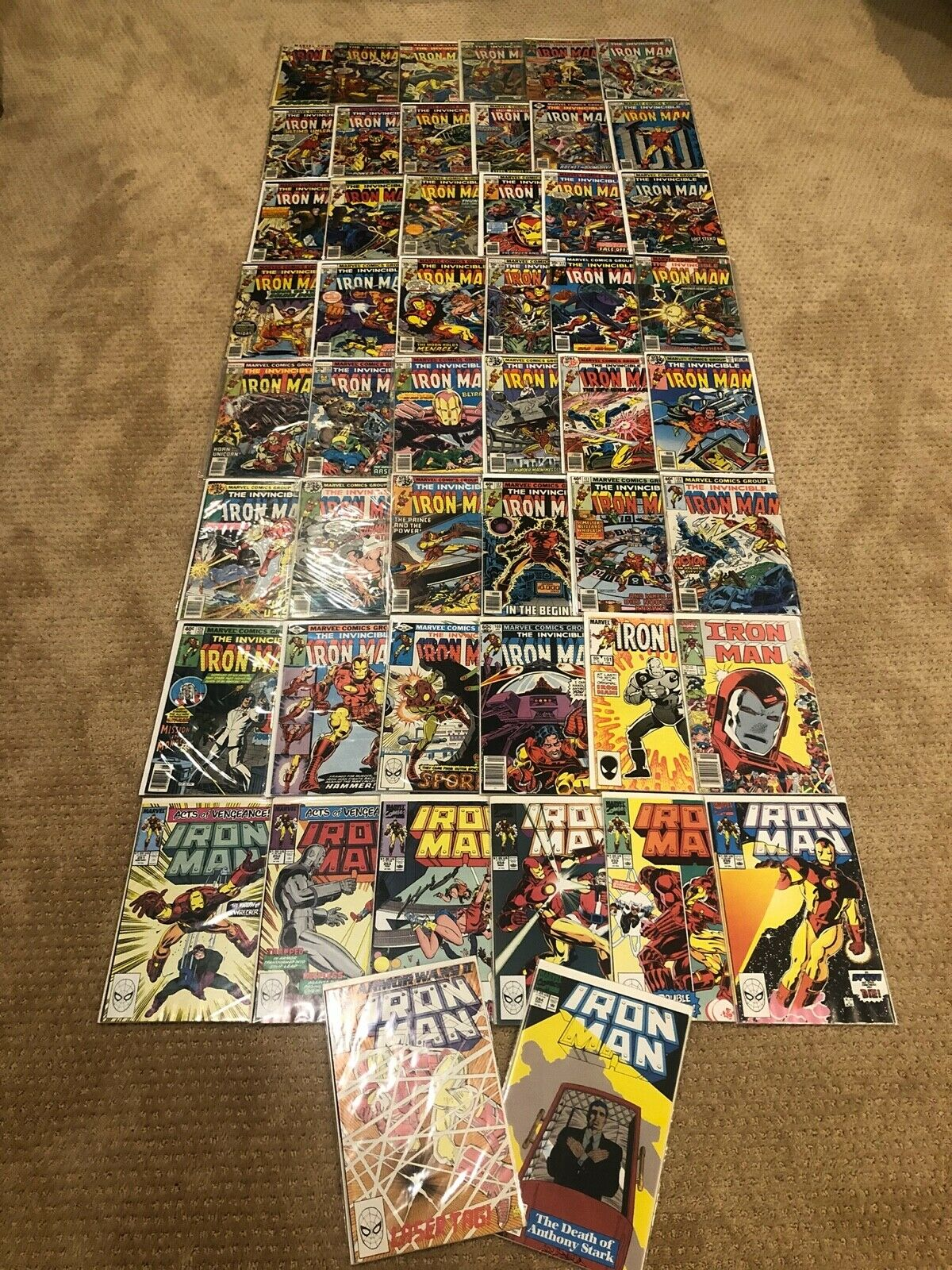 Iron Man Lot Run 43-284 Bronze Copper 56 64 82 85 95-126 157 169 191 212 251