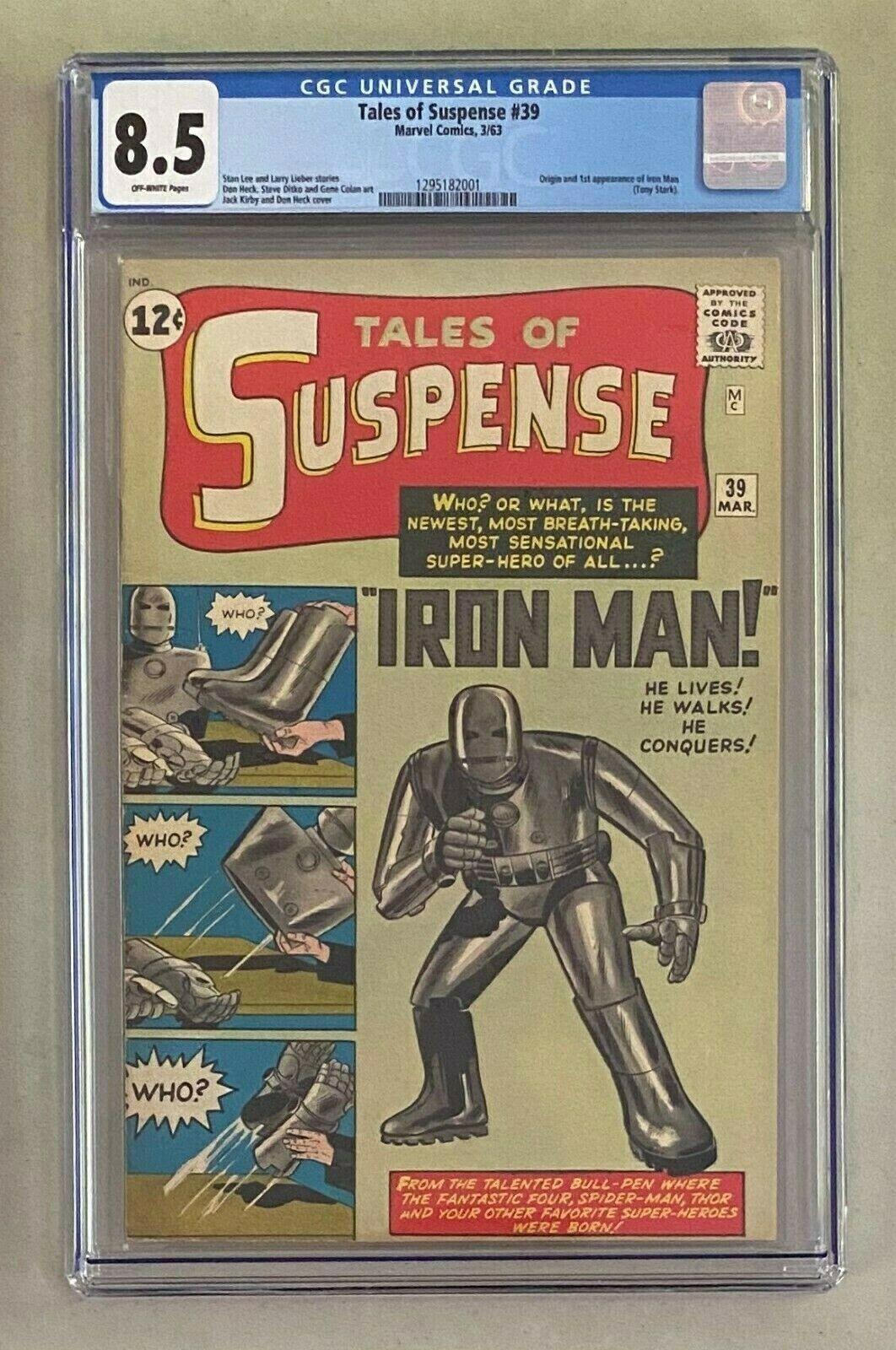 TALES OF SUSPENSE #39 Marvel Comics 1963 CGC 8.5 Origin & 1st Appearance