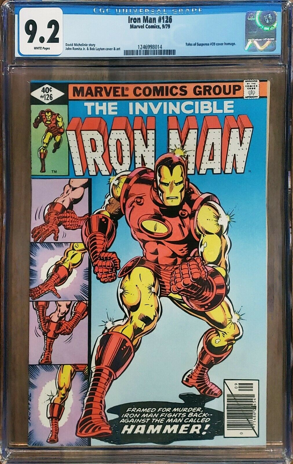 Iron Man 126 CGC 9.2 Classic Cover Marvel 1979